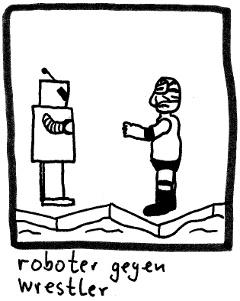 roboter gegen wrestler