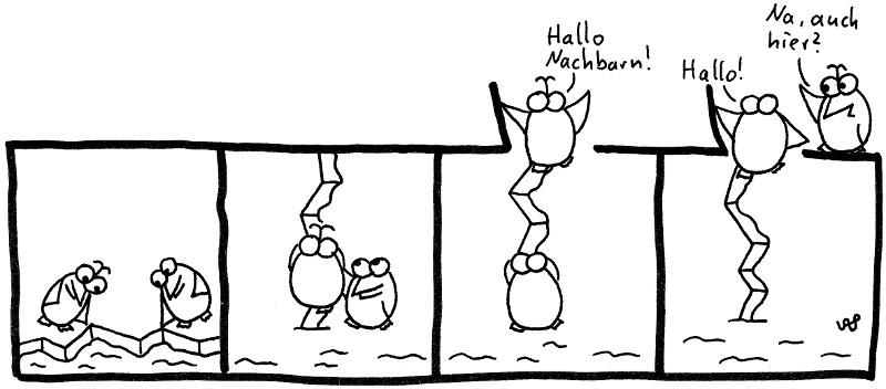 Hallo Nachbarn! Hallo! Auch hier?